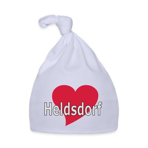 Herz Heldsdorf weiss - Baby Mütze