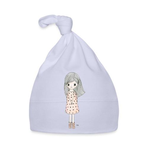 meisje met roze jurk - Muts voor baby's