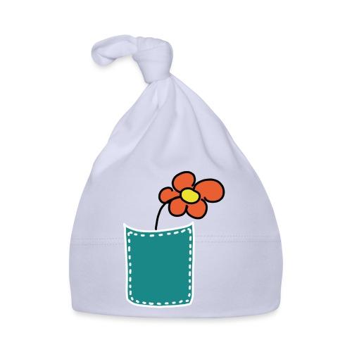 Brusttasche Blume - Baby Mütze