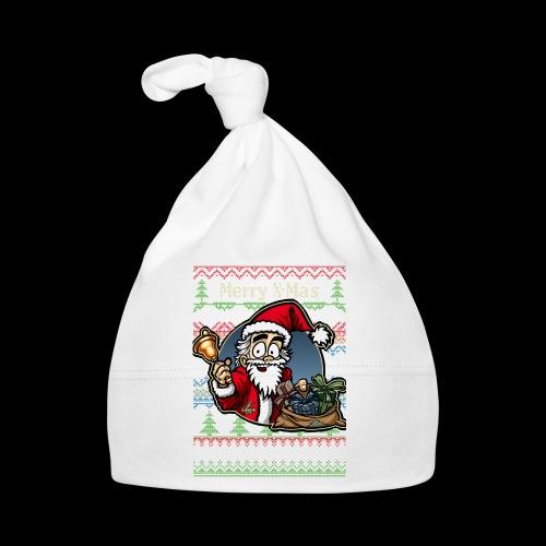 Merry X-Mas Weihnachtsmann - Baby Mütze