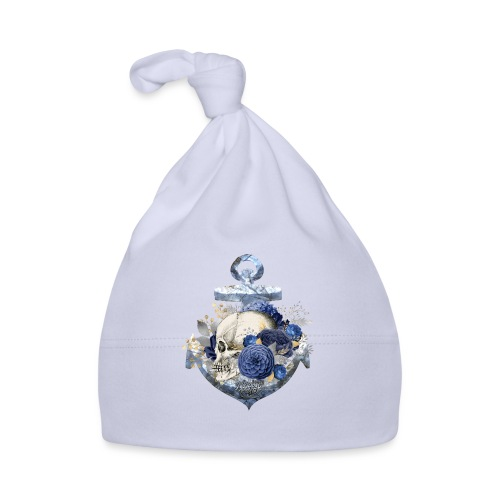 Totenkopf Blumenanker - Baby Mütze