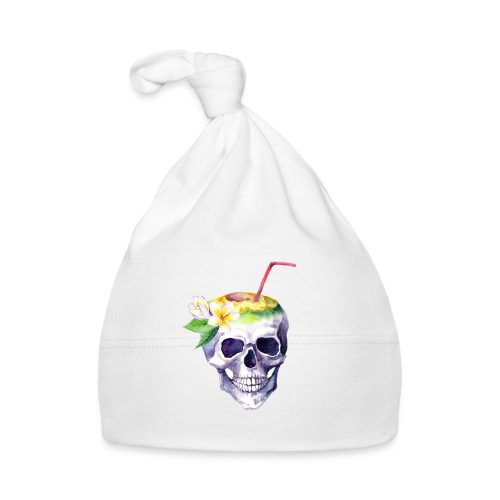 Totenkopf mit Strohhalm - Baby Mütze