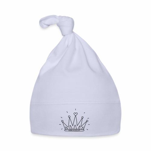 KRONE - schwarz - Baby Mütze