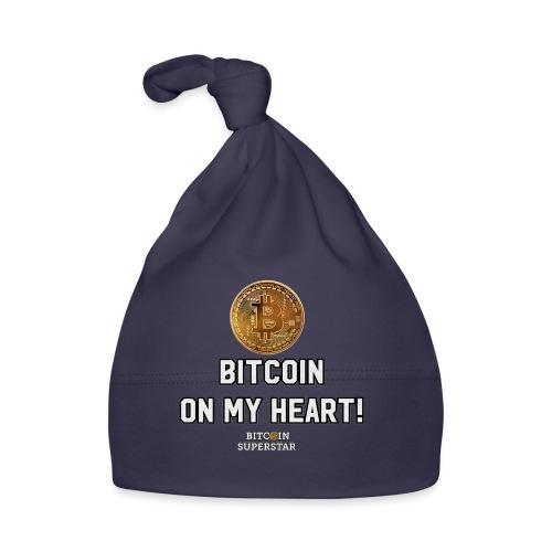 Bitcoin on my heart! - Cappellino neonato