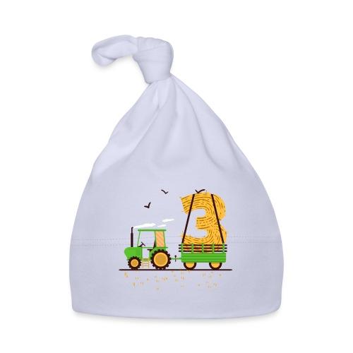 Traktor mit Anhänger 3. Geburtstag Geschenk Drei - Baby Mütze