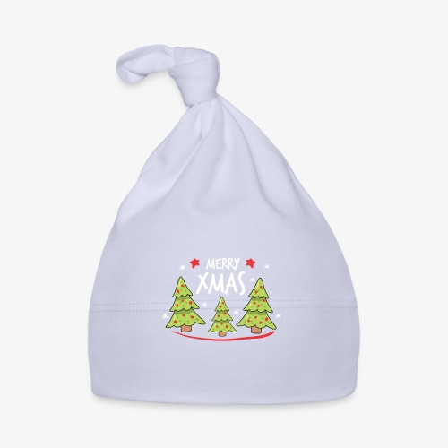 Fir trees and Merry Xmas - Baby Cap