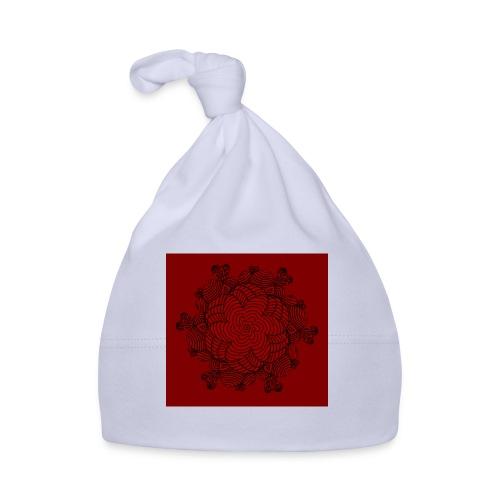 Mandala, rot-schwarz - Baby Mütze