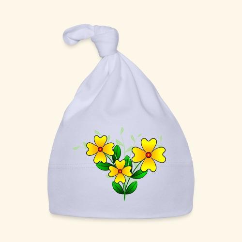 Blumenstrauß mit gelben Blumen, floral, Blüten - Baby Mütze