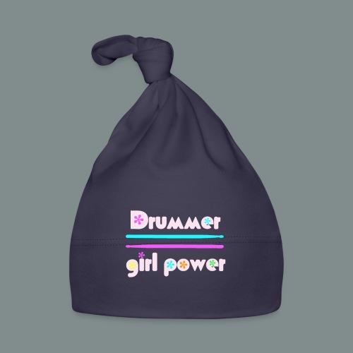 Drummer girlpower rose - idee cadeau batteur - Bonnet Bébé