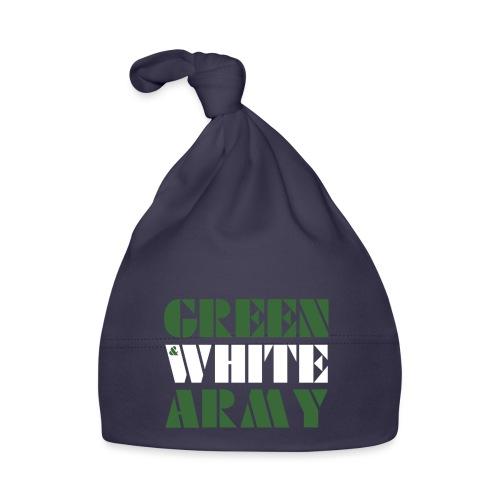 GREEN & WHITE ARMY _STENCIL_3 - Baby Cap