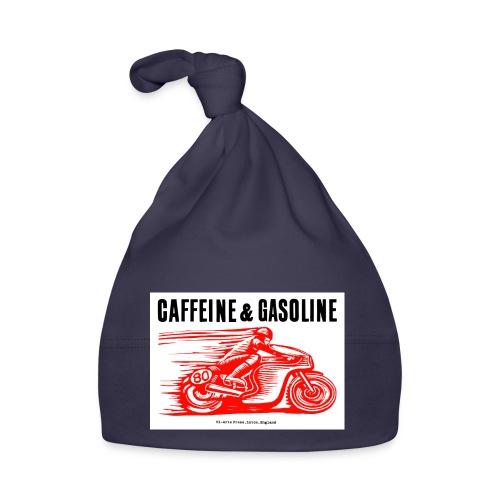 Caffeine & Gasoline black text - Baby Cap