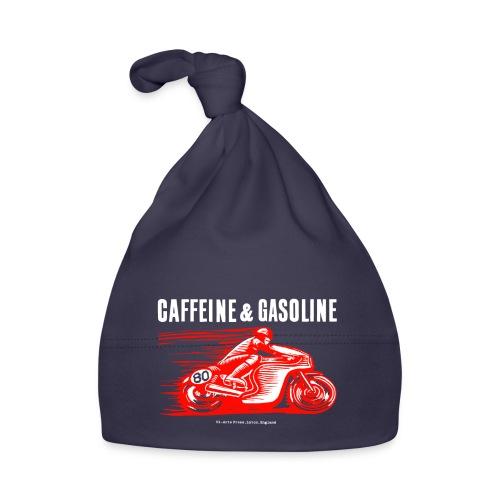 Caffeine & Gasoline white text - Baby Cap