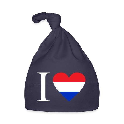 Ik hou van Nederland   Hart met rood wit blauw - Muts voor baby's
