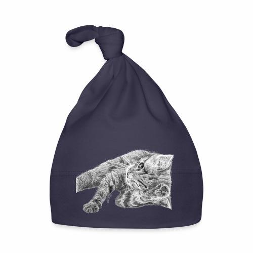 Petit chaton au crayon gris - Bonnet Bébé