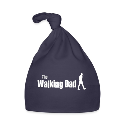the walking dad white text on black - Baby Cap