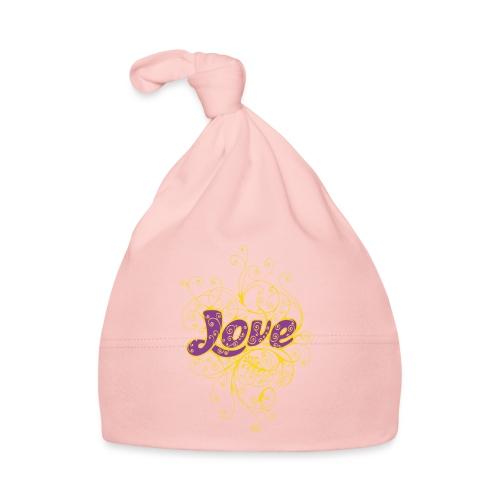 LOVE VIOLA CON DECORI - Cappellino neonato