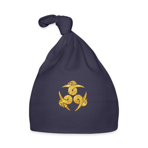 Three Geese Japanese Kamon in gold - Baby Cap