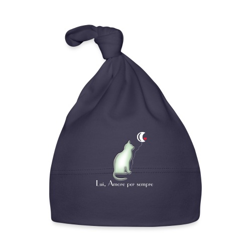 GATTO-E-LUNA - Cappellino neonato