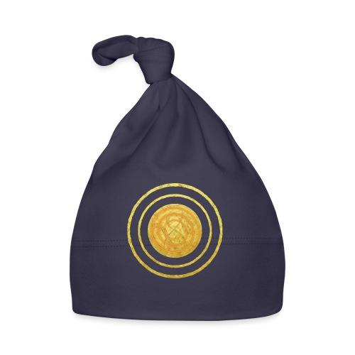 Glückssymbol Sonne - positive Schwingung - Spirale - Baby Mütze
