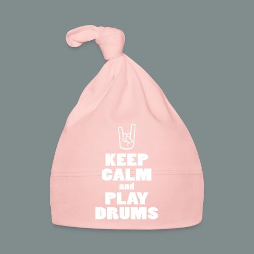 Keep calm and play drums - Bonnet Bébé
