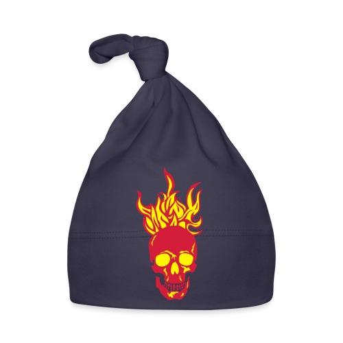 skull tete mort flamme fire dead head fe - Bonnet Bébé