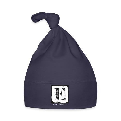 Logo ErrareUmano con scritta bianca - Cappellino neonato