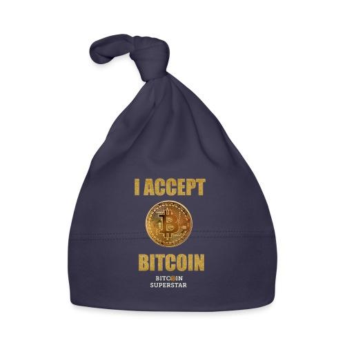 I accept bitcoin - Cappellino neonato