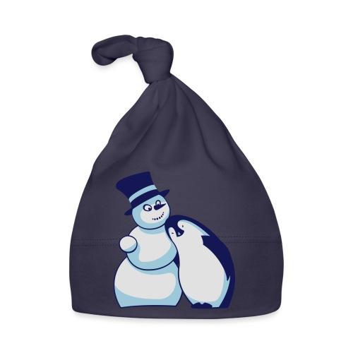 Schneemann und Pinguin - Baby Mütze