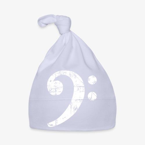 Bassschlüssel Vintage Bassisten Design (Weiß) - Baby Mütze