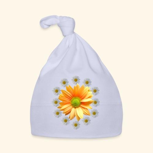 Margeriten mit einer orangen Chrysantheme, Blumen - Baby Mütze