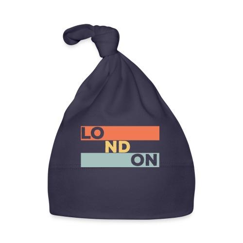 Vintage London Souvenir - Retro Streifen London - Baby Mütze
