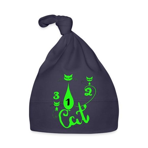 Un deux trois cat, French, funny, cute cat lovers - Bonnet Bébé