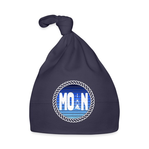 Moin Leuchtturm maritimer Retrokreis Geschenkidee - Baby Mütze