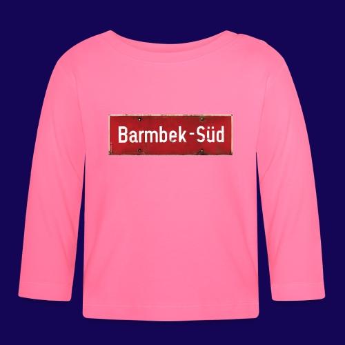 HAMBURG Barmbek Sued Ortsschild rot antik - Baby Langarmshirt