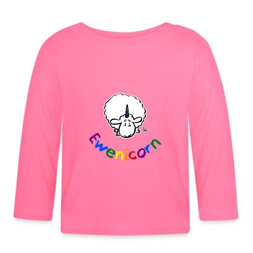Ewenicorn (texte arc-en-ciel édition noire) - T-shirt manches longues Bébé