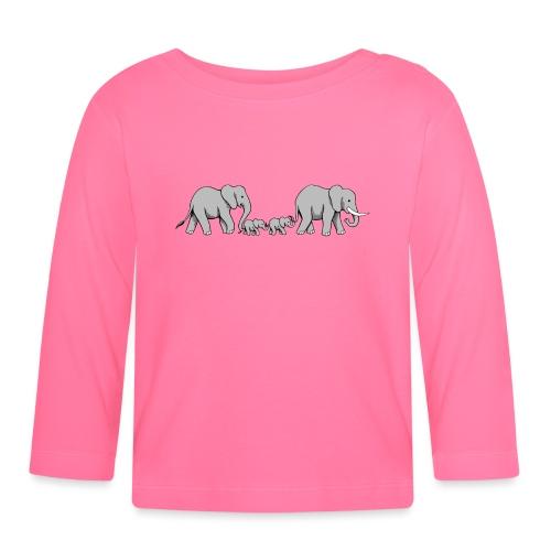Elefanten Familie II - Baby Langarmshirt