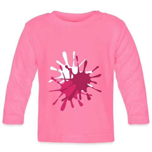 Paintball Splats - Choose you own design colours. - Baby Long Sleeve T-Shirt