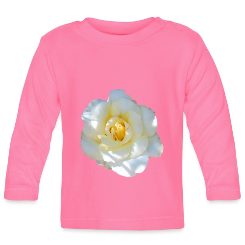 A white rose - Baby Long Sleeve T-Shirt
