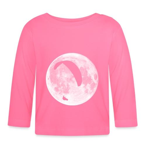 Paragleiter im Mond - Baby Langarmshirt