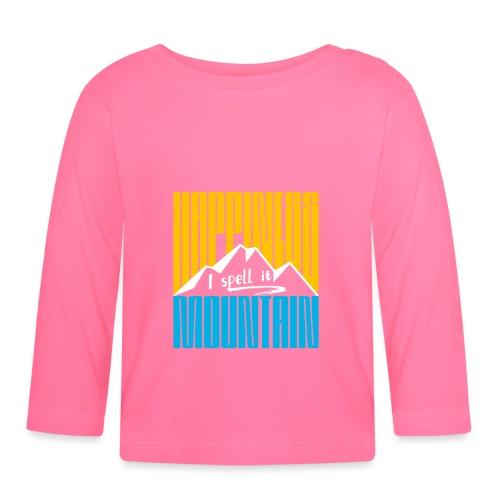 Happiness I spell it Mountain Outdoor Wandern Berg - Baby Langarmshirt