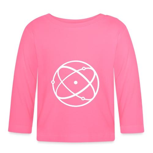 Atom, weiß - Baby Langarmshirt