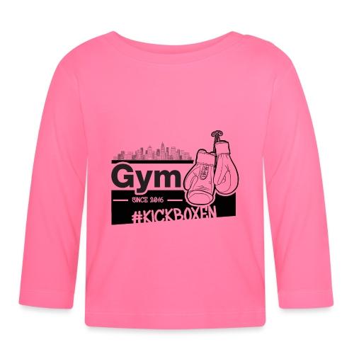 Gym in Druckfarbe schwarz - Baby Langarmshirt
