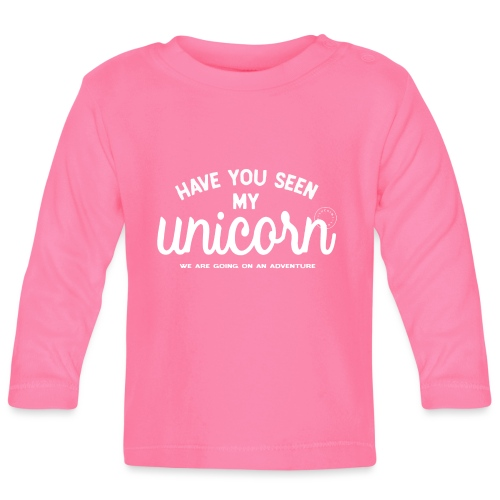 Unicorn white - Baby Long Sleeve T-Shirt