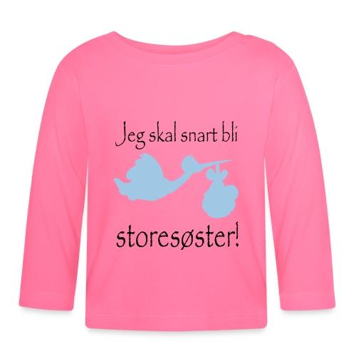 jeg skal bli storesøster - Langarmet baby-T-skjorte