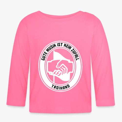 Logo Troihand invertiert - Baby Langarmshirt