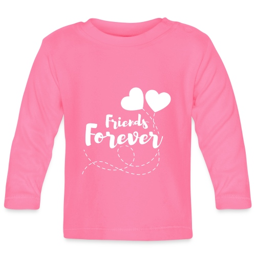 Friends forever Geschwister Zwillinge Partnerlook - Baby Langarmshirt