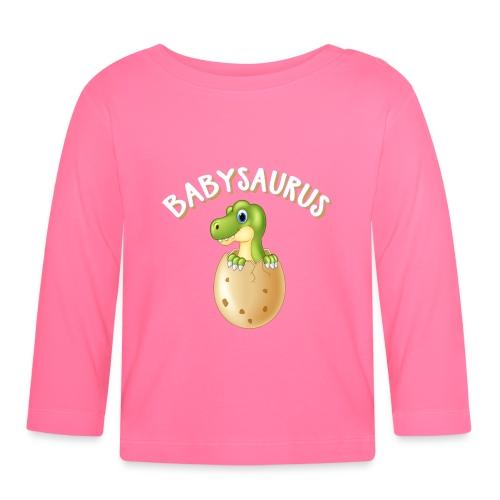 Babysaurus Vater und Kind Dinosaurier Partnerlook - Baby Langarmshirt