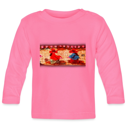 Dos Paisanitas tejiendo telar inca - Camiseta manga larga bebé
