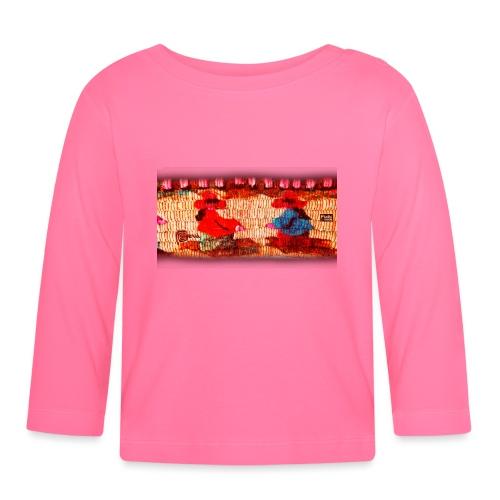 Dos Paisanitas tejiendo telar inka - Baby Langarmshirt