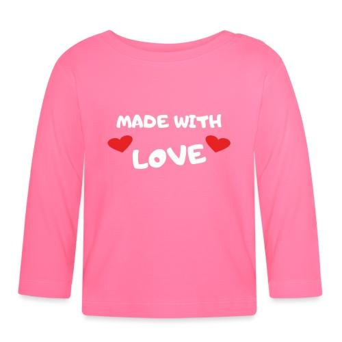 Love Liebe Baby Strampler lustige Sprüche Geschenk - Baby Langarmshirt